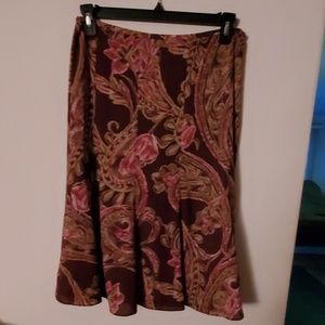 Jones Wear Brown/Pink Skirt - 10